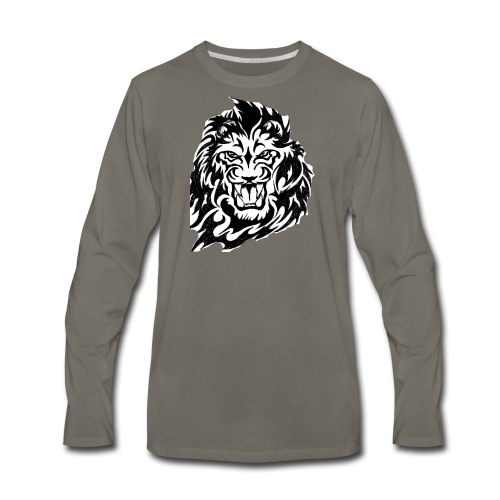 DP Branded-Lion - Men's Premium Long Sleeve T-Shirt