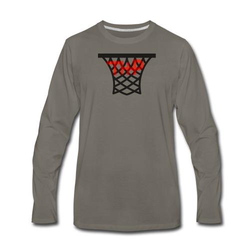 Hoop logo - Men's Premium Long Sleeve T-Shirt