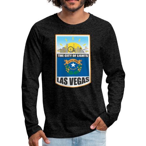 Las Vegas - Nevada - The city of light! - Men's Premium Long Sleeve T-Shirt