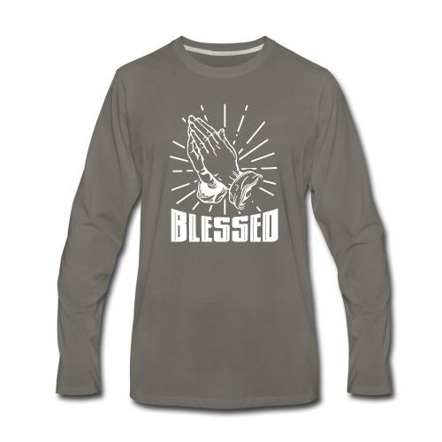Blessed - Alt. Design (White Letters) - Men's Premium Long Sleeve T-Shirt