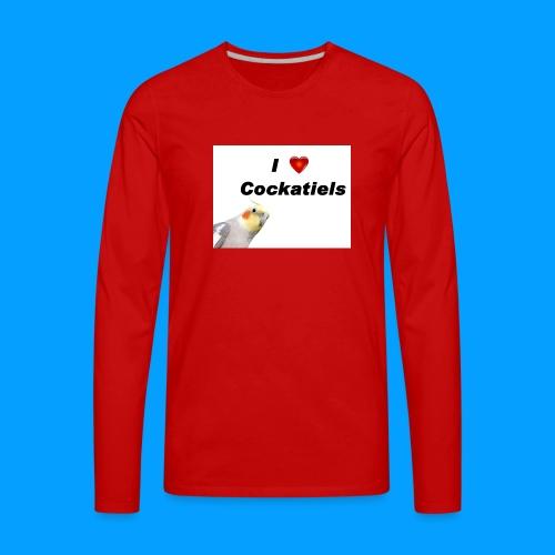Cockatiels - Men's Premium Long Sleeve T-Shirt