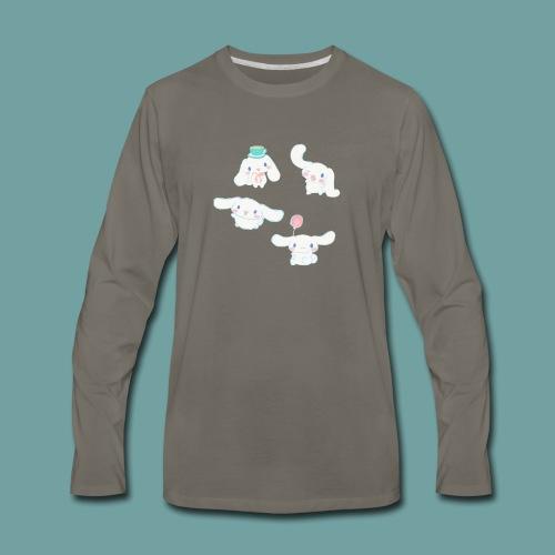 Cinnamon roll sanrio pattern - Men's Premium Long Sleeve T-Shirt