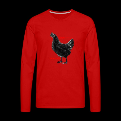 DEMONIC CHICKEN - Men's Premium Long Sleeve T-Shirt