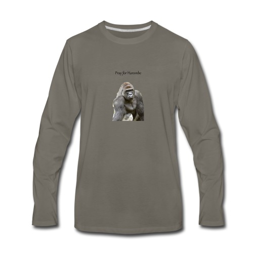 Pray for Harambe - Men's Premium Long Sleeve T-Shirt