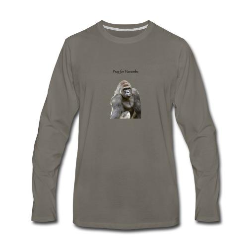 Pray for Harambe - Men's Premium Long Sleeve T-Shirt