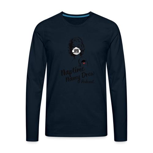 Marilyn Mask & Tattoo design - Men's Premium Long Sleeve T-Shirt