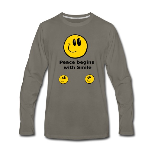 Peace begins with Smile - Men's Premium Long Sleeve T-Shirt