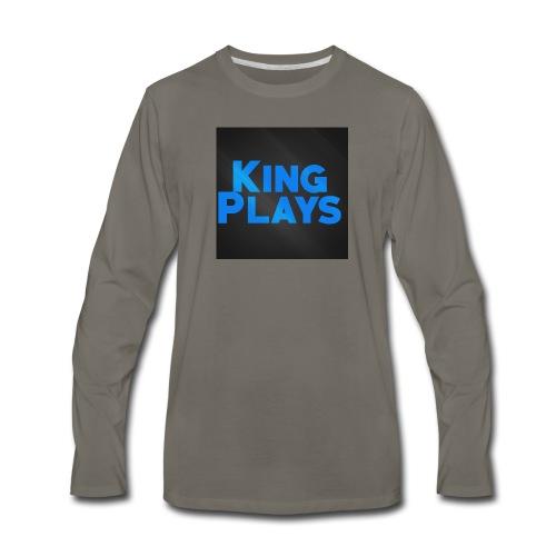 New King plays Logo Art - Men's Premium Long Sleeve T-Shirt