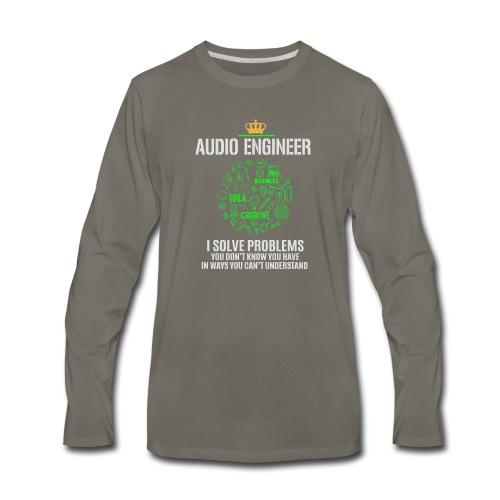 AUDIO ENGINEER - Men's Premium Long Sleeve T-Shirt
