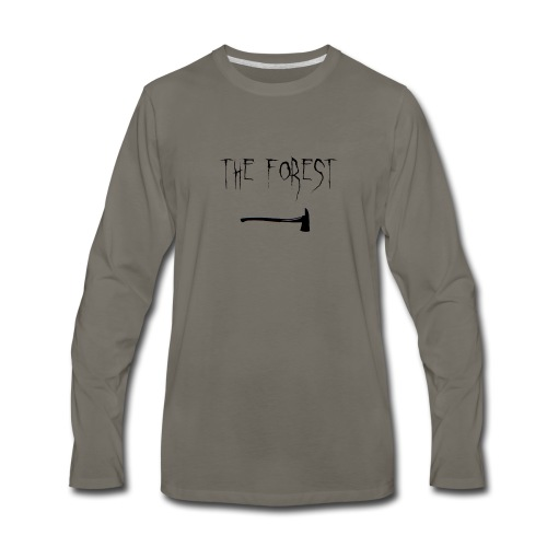 the forest , game axe - Men's Premium Long Sleeve T-Shirt