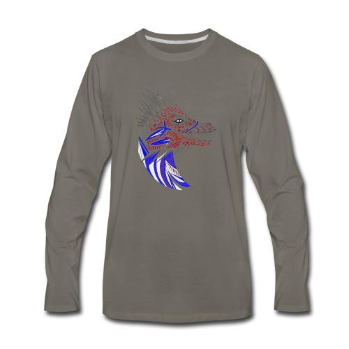 Blue dragon head - Men's Premium Long Sleeve T-Shirt