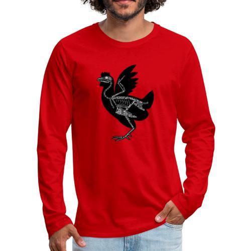 Skeleton Chicken - Men's Premium Long Sleeve T-Shirt