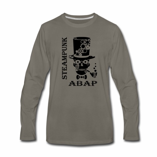 Steampunk Skull - Men's Premium Long Sleeve T-Shirt