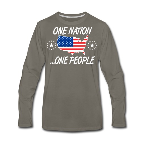 One Nation One People 2012 FRONT TRANSPARENT BACKG - Men's Premium Long Sleeve T-Shirt