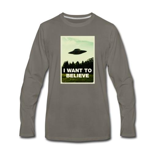 i want to believe (t-shirt) - Men's Premium Long Sleeve T-Shirt