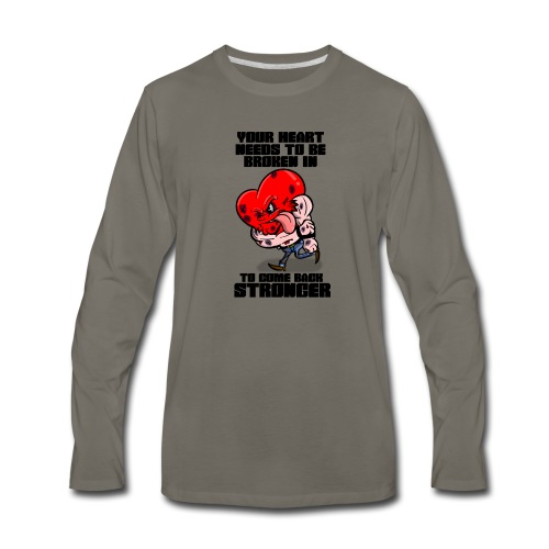 Fighting Heart - Men's Premium Long Sleeve T-Shirt