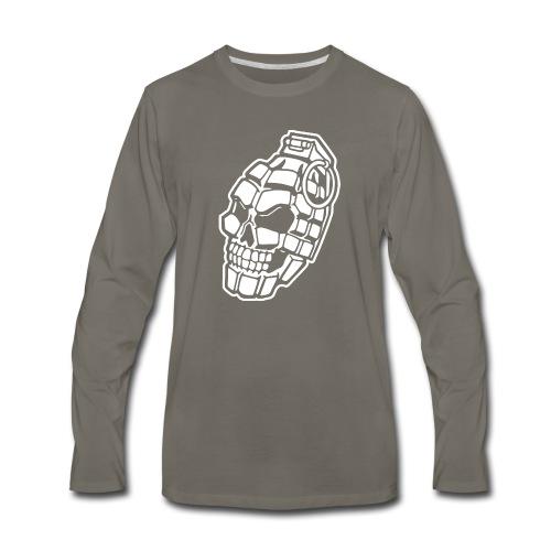 Skull Grenade - Men's Premium Long Sleeve T-Shirt