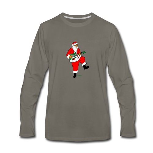 santa clause guitar - Men's Premium Long Sleeve T-Shirt