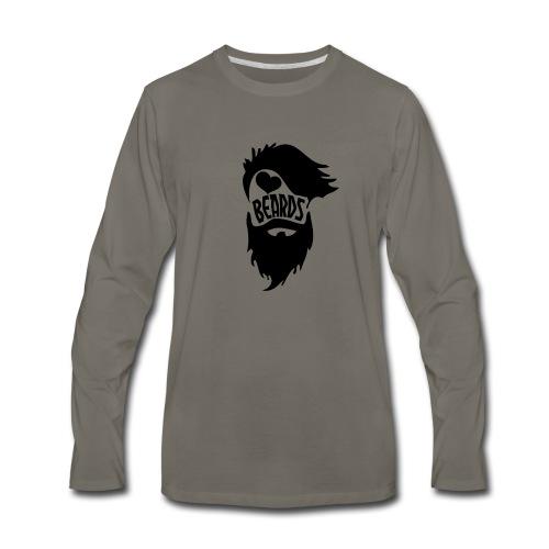 I Love Beards - Men's Premium Long Sleeve T-Shirt