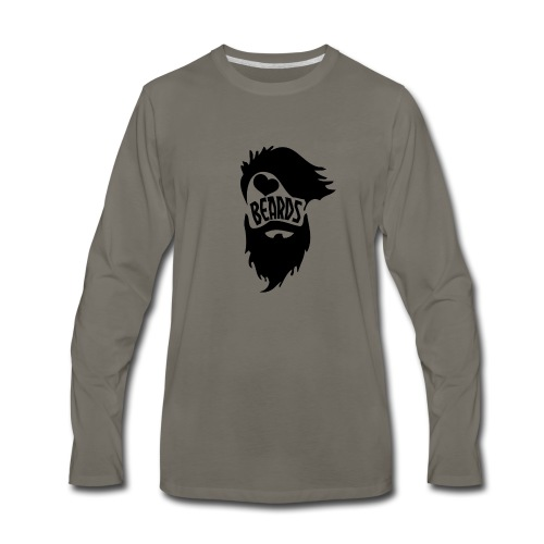 I Love Beards - Men's Premium Long Sleeve T-Shirt