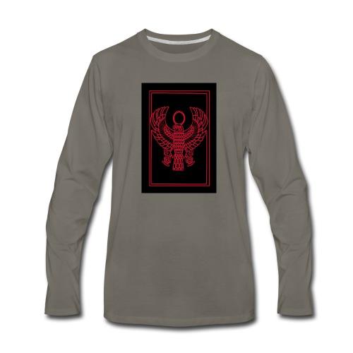 Heru- Horus (Ancient Mystery School KMT) - Men's Premium Long Sleeve T-Shirt