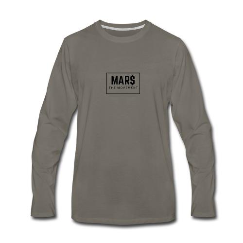MAR$ Orginal White T-Shirt - Men's Premium Long Sleeve T-Shirt