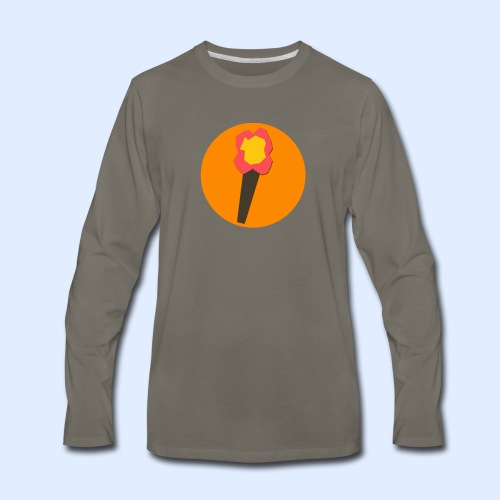 NeoMc Redstone Torch Design - Men's Premium Long Sleeve T-Shirt