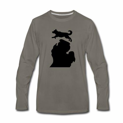 Bark Michigan Husky womens - Michigan Tech Colors - Men's Premium Long Sleeve T-Shirt