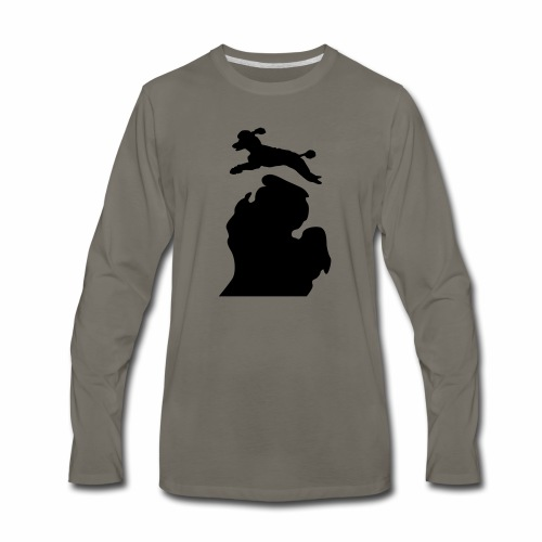 Bark Michigan poodle - Men's Premium Long Sleeve T-Shirt