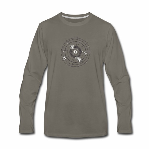 Solar System Funny - Men's Premium Long Sleeve T-Shirt