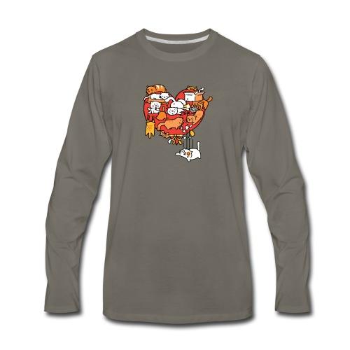 Catlentine s Day - Men's Premium Long Sleeve T-Shirt