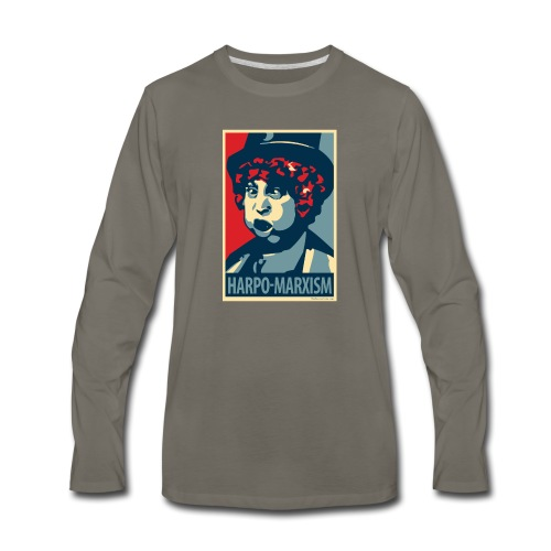 Harpo Marxism: parody of Obama poster - Men's Premium Long Sleeve T-Shirt