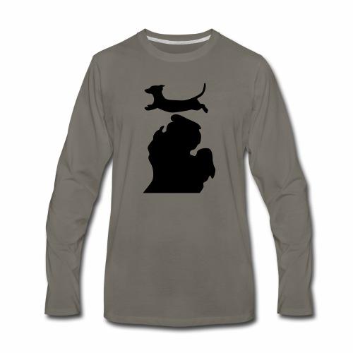 Dachshund Bark Michigan womens shirt - Men's Premium Long Sleeve T-Shirt