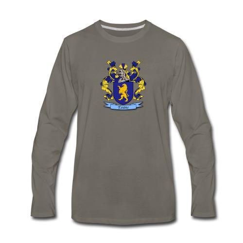 Evans Family Crest - Men's Premium Long Sleeve T-Shirt