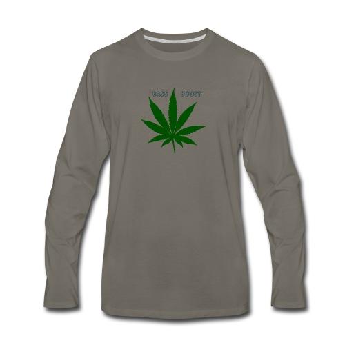 Bass Boost 420 Weed Leaf - Men's Premium Long Sleeve T-Shirt