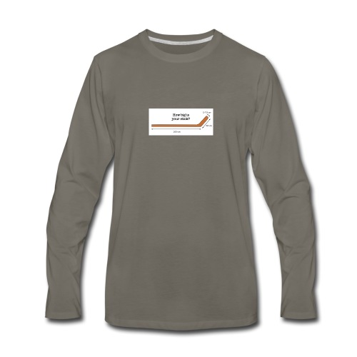 Hockey Stick - Men's Premium Long Sleeve T-Shirt