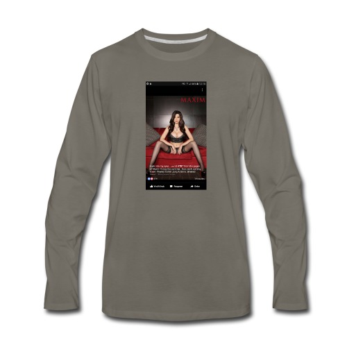 sexy girl - Men's Premium Long Sleeve T-Shirt