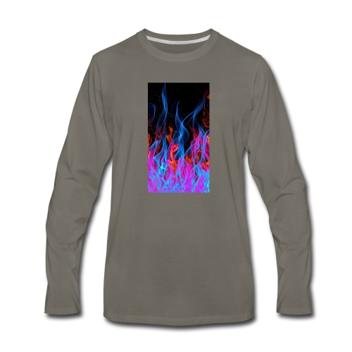 The flame. - Men's Premium Long Sleeve T-Shirt