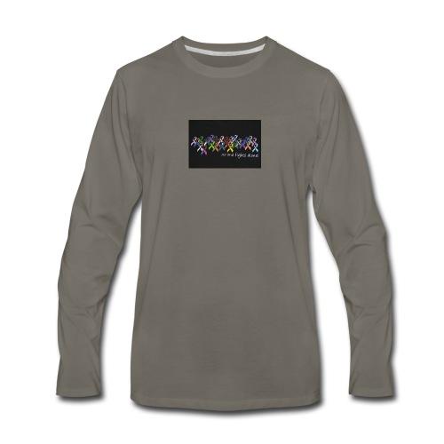 No One Fights Alone Multi Colored Ribbon Ladies Pe - Men's Premium Long Sleeve T-Shirt