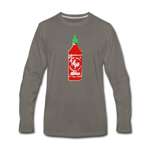 Hot Sauce Bottle - Men's Premium Long Sleeve T-Shirt