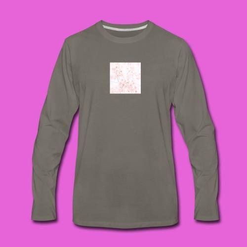 cute flower design - Men's Premium Long Sleeve T-Shirt