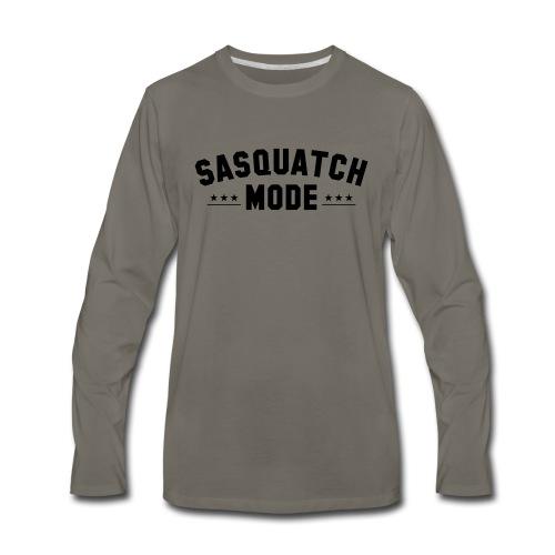 SASQUATCH MODE TEXT 001 - Men's Premium Long Sleeve T-Shirt