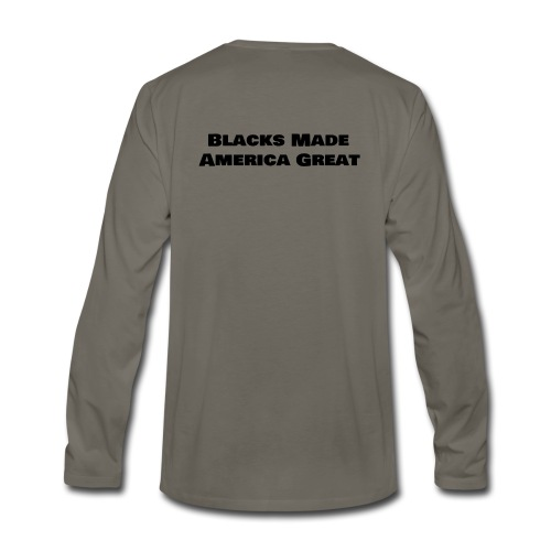 (blacks_made_america) - Men's Premium Long Sleeve T-Shirt