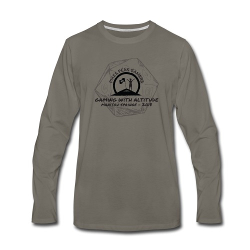 Pikes Peak Gamers Convention 2018 - Clothing - Men's Premium Long Sleeve T-Shirt