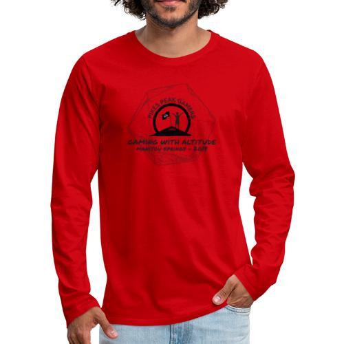 Pikes Peak Gamers Convention 2018 - Clothing - Men's Premium Long Sleeve T-Shirt