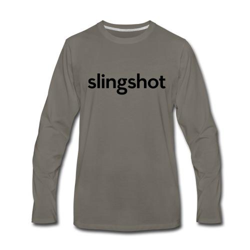 SlingShot Logo - Men's Premium Long Sleeve T-Shirt