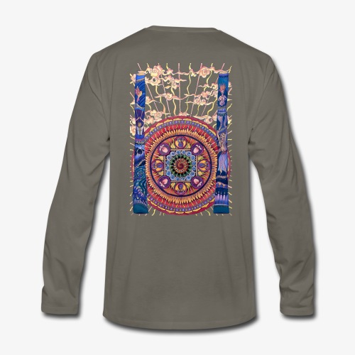 Didgeridoo Mandala - Men's Premium Long Sleeve T-Shirt