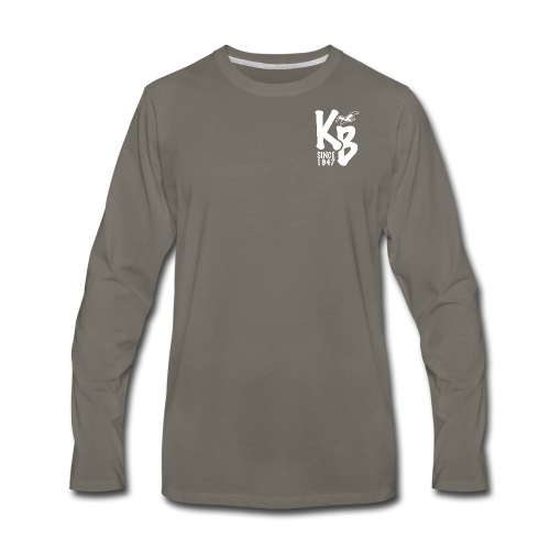 Kure Beach Day-White Lettering-Front and Back - Men's Premium Long Sleeve T-Shirt
