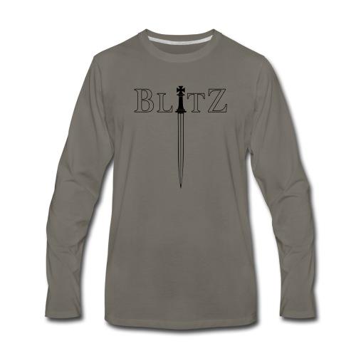 BLITZ CHESS - King - Men's Premium Long Sleeve T-Shirt