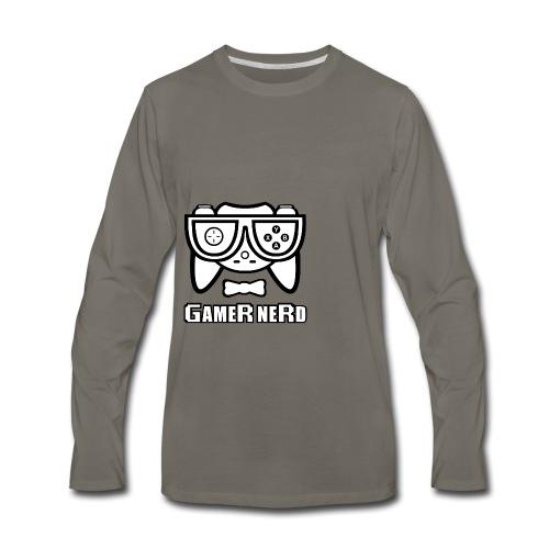 Nerds - Gamer Nerd SD - Men's Premium Long Sleeve T-Shirt
